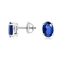 d2adb9ba259e Aretes con zafiro oval azul de .25 ct. – Svetlana Petrov® Diamonds